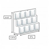 12-Slot Pocketbook Display Stand