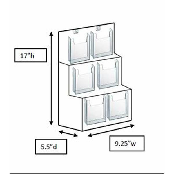 6-slot pocketbook display stand