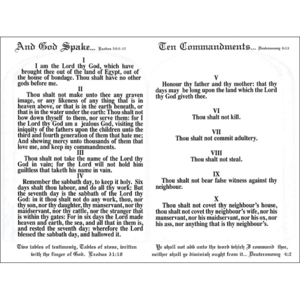 The Ten Commandments Tract (Pack of 50)