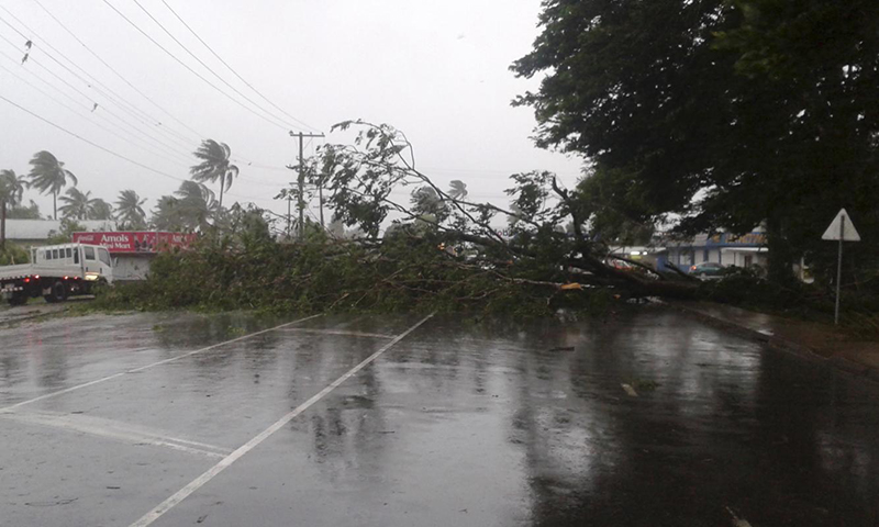 Fiji hit by 'strongest ever' cyclone