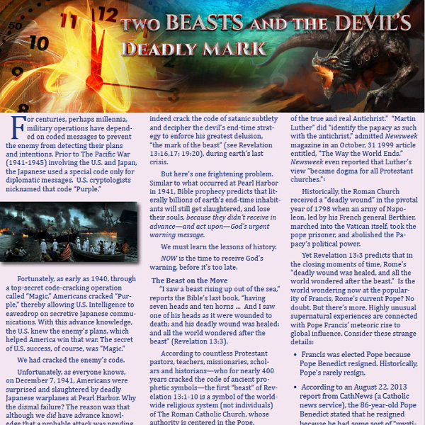 Two Beasts and the Devil's Deadly Mark
