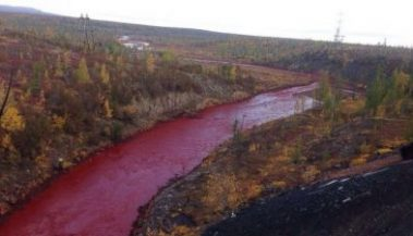 River in Russia Mysteriously Turned Blood Red