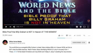 Billy Graham Video Generates 32,000 Views
