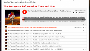 The Protestant Reformation: Then and Now