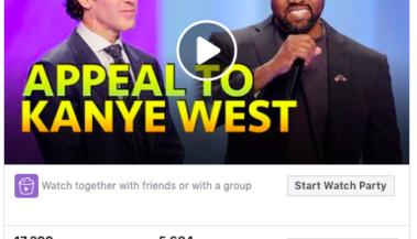 Kanye facebook