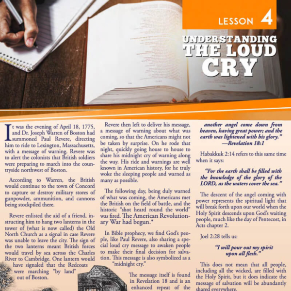 """""""Lesson 4: Understanding the Loud Cry"""" Study Guide"""
