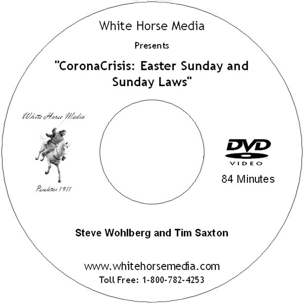 CoronaCrisis: Easter Sunday and Sunday Laws DVD