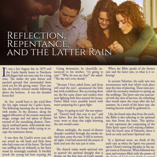 """""""Lesson 1: Reflection, Repentance and the Latter Rain"""" Study Guide"""