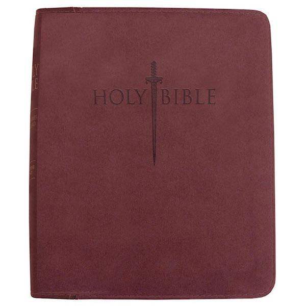 KJVER Thinline Large Print Burgundy Ultrasoft Indexed Bible