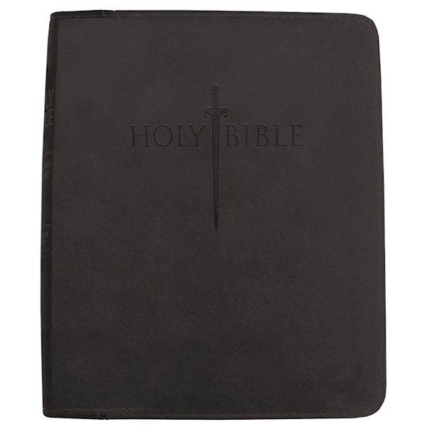 KJVER Thinline Large Print Black Ultrasoft Bible