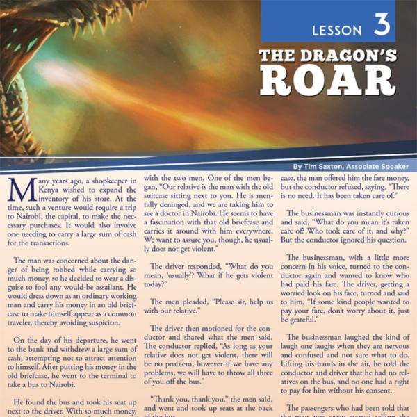 """""""Lesson 3: The Dragon's Roar"""" Study Guide"""