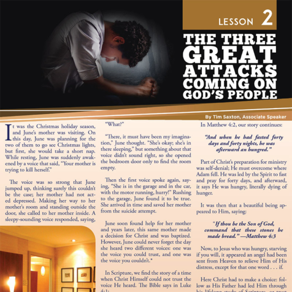 """""""Lesson 2: The Three Great Attacks Coming on God's People"""" Study Guide"""