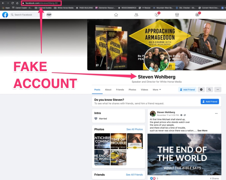 Fake Facebook Account